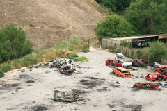 broken kraschade bilbilar Arkivbild