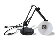 Broken Lamp (Clipping Path). A broken lamp isolated on white. Clipping path excludes the shadow stock images