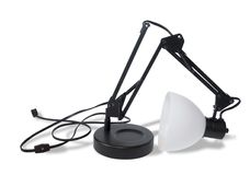 Broken Lamp (Clipping Path) Stock Photography