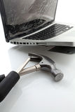 Broken laptop Royalty Free Stock Photography