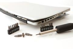 Broken laptop stock photography