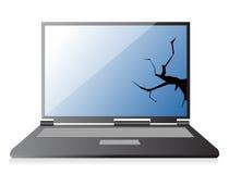 Broken laptop Royalty Free Stock Photos