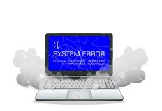 Broken laptop error screen Stock Images