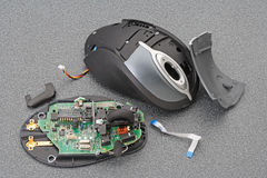 Broken laser mouse Stock Photography