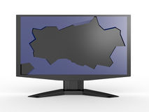 Broken LCD monitor Royalty Free Stock Photography