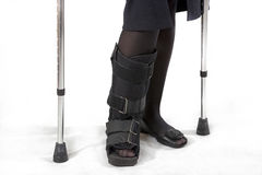 Broken leg Royalty Free Stock Photos