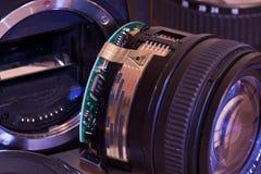 Broken lens. Royalty Free Stock Images