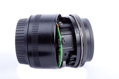 Broken lens Royalty Free Stock Photos