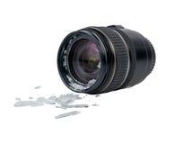 Broken lens Stock Images