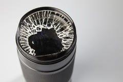 Broken lense Stock Image