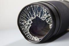 Broken lense Stock Photo