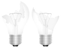 Broken light bulb Stock Photography