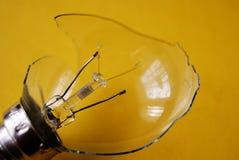 Broken light bulb Stock Image