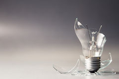 Broken Light Bulb Royalty Free Stock Photography