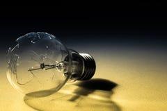 Broken light bulb Stock Images