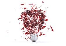 Broken light bulb Royalty Free Stock Photography