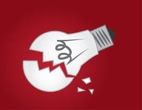 Light Bulb Broken Stock Photo