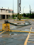 Broken Light Pole. A Light pole that has collapsed from Hurricane Ike Royalty Free Stock Image