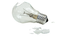 Broken lightbulb Stock Photo