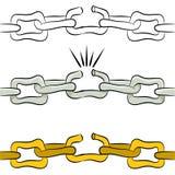 Broken Link Chain Stock Photography