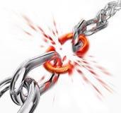 Broken link. 3d rendering of a broken chain Stock Photo