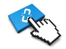 Broken Link Icon. 3D Illustration Broken Link Vector Icon Royalty Free Stock Photography