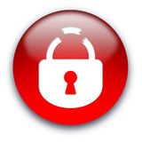 Broken lock button Royalty Free Stock Photo