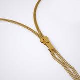 Broken lock zipper Royalty Free Stock Images