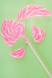 Broken lollipop Stock Image
