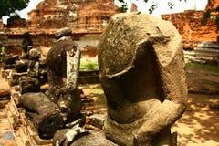 Broken lord Buddha sculpture Stock Image