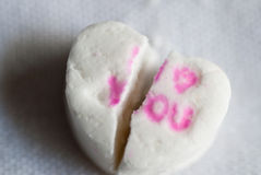 Broken Love Heart royalty free stock photo