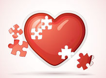 Broken love heart Royalty Free Stock Images