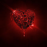 Broken Love. Heart blown to many pieces Royalty Free Stock Photo