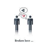 Broken love Stock Photos