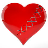Broken loving heart. This 3D image of a broken lover's heart Royalty Free Stock Photography