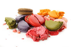 Broken macaroon Royalty Free Stock Photo