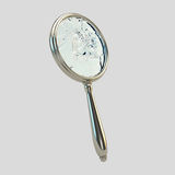 Broken magnifying glass isolated. On gray background Stock Photography