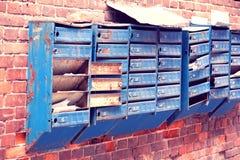 Broken mailboxes Royalty Free Stock Photo
