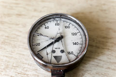 Broken manometer Stock Images