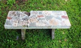 Broken marble bench Stock Photos