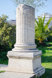 Broken marble column Stock Photography