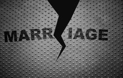 Broken marriage metal Royalty Free Stock Photo