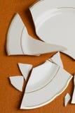 broken maträtt royaltyfria bilder