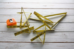 Broken Measuring Tape Royalty Free Stock Images
