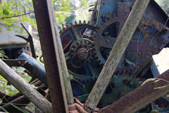 Broken mechanism at the dump Royalty Free Stock Photography