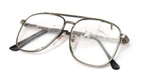 Broken men's eyeglasses Royalty Free Stock Images