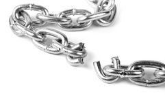 Broken metal chain Stock Photo