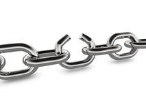 Broken Metal Chain Concept Graphic Stock Photo