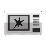 Broken microwave oven icon Royalty Free Stock Images