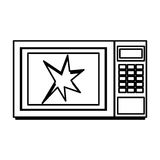 Broken microwave oven icon Royalty Free Stock Image